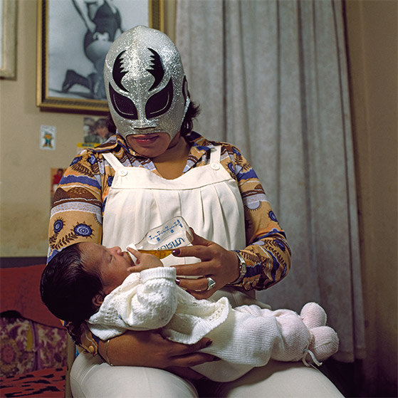 Mexican Lucha Libre Wrestling Family Portraits