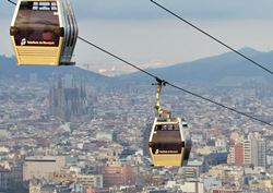 The cable cars of Montjuïc to know Barcelona from the air